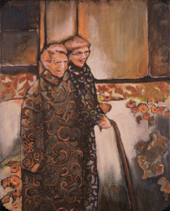 Two Sisters together, with Fancy Coats and laughter