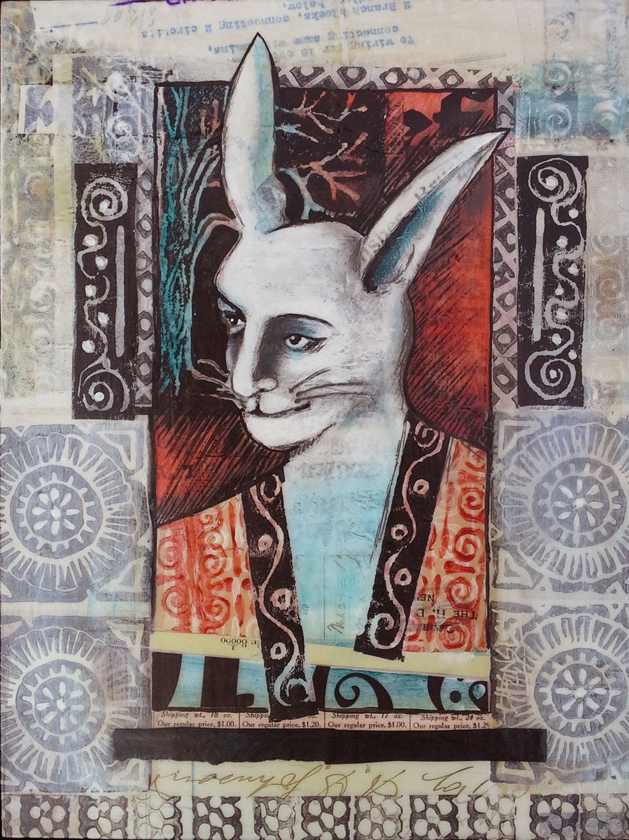 Shaman, A collage by Lynette Hensley